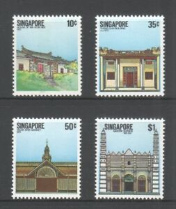 SINGAPORE-1984-NATIONAL-MONUMENTS-COMP-SET-OF-4-STAMPS-SC-438-441-IN-MINT-MNH