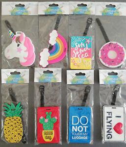 Remolques-insignia-equipaje-etiqueta-Adressschild-viajes-vacaciones-diversion-colorida