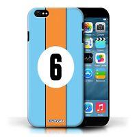 Stuff4 Hülle/Case für Apple iPhone 6/Gulf/Blau/Rennwagen Streifen