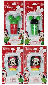 TASTE-BEAUTY-Lip-Balm-Gloss-DISNEY-MICKEY-Christmas-Holiday-Flavors-YOU-CHOOSE