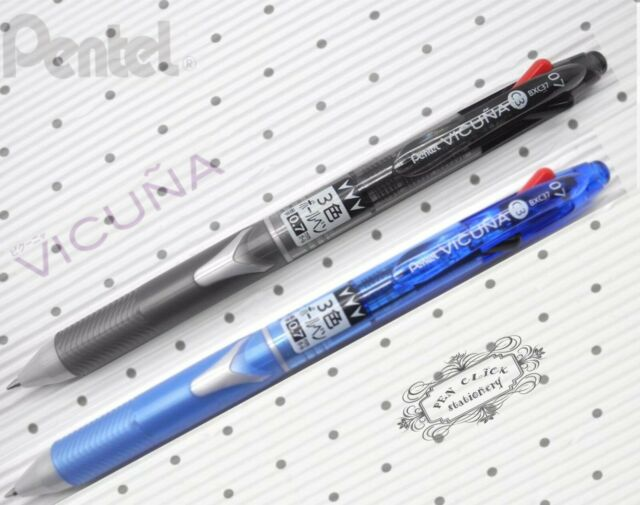 free ship BLACK + BLUE Pentel VICUNA BXC37 3 in1 ball point pen free gift