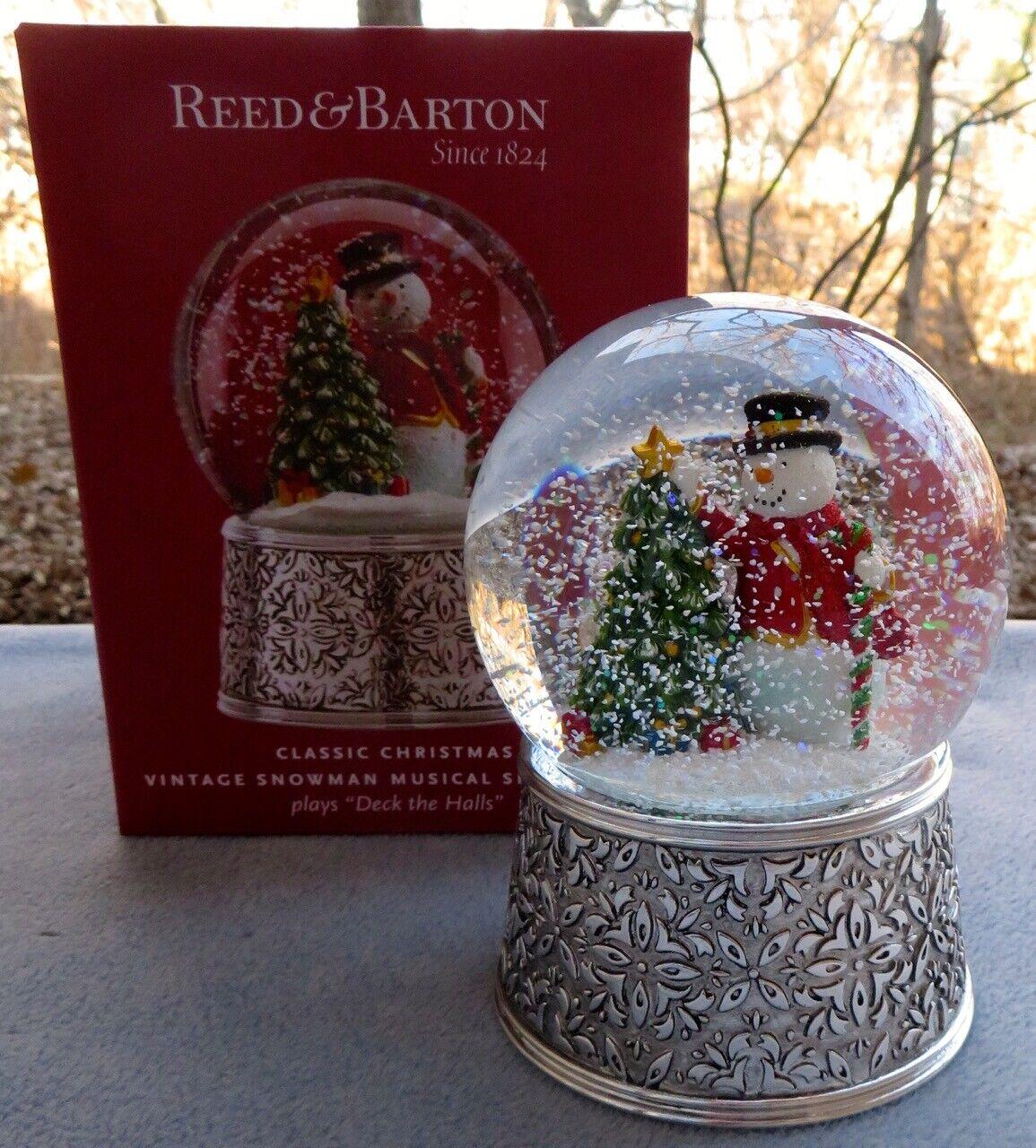 REED /& BARTON Silverplate Revolving Musical Snowman NIB
