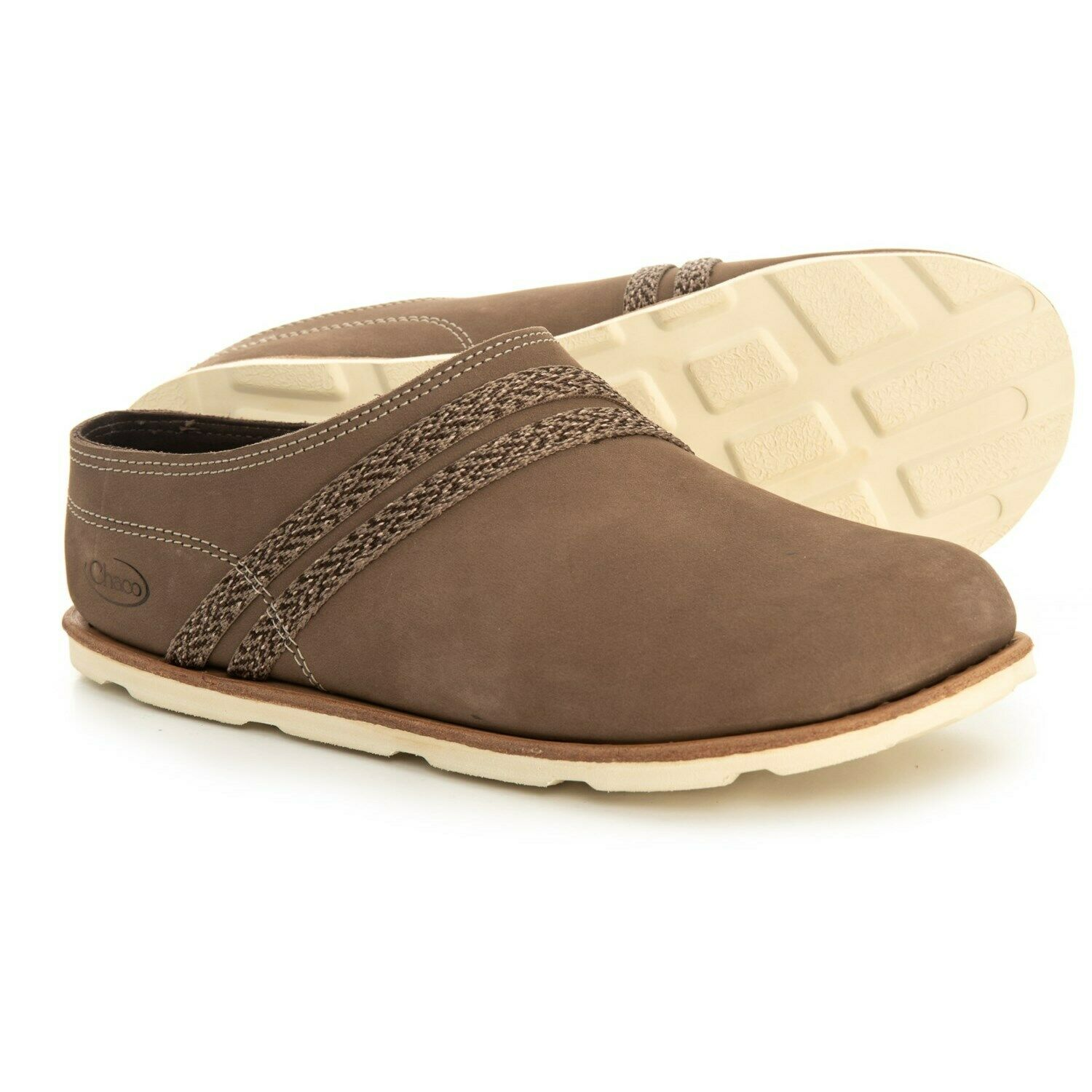 CHACO WOMEN'S LEATHER HARPER SLIDE SHOES CARIBOU SIZE 7