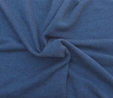"Heather Indigo Cotton French Terry Knit Fabric by Yard 15 OZ 61""W 9/16"