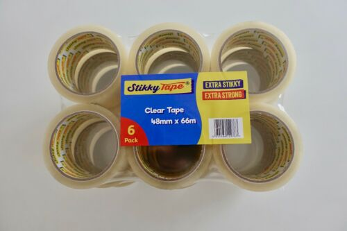 18 rolls strong CLEAR parcel packing sealing TAPE 48mm x 66m QUALITY STIKKY TAPE