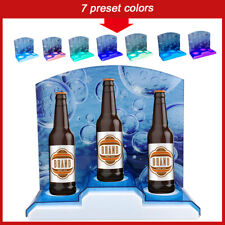 12v Led Lighted Shelve Back Liquor Bar Liquor Bottle Shelf Glowing Display Stand