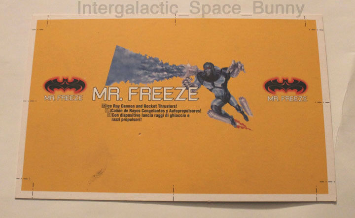 Kenner batman & robin 1997 mr. freeze batman beweis karte pre - production