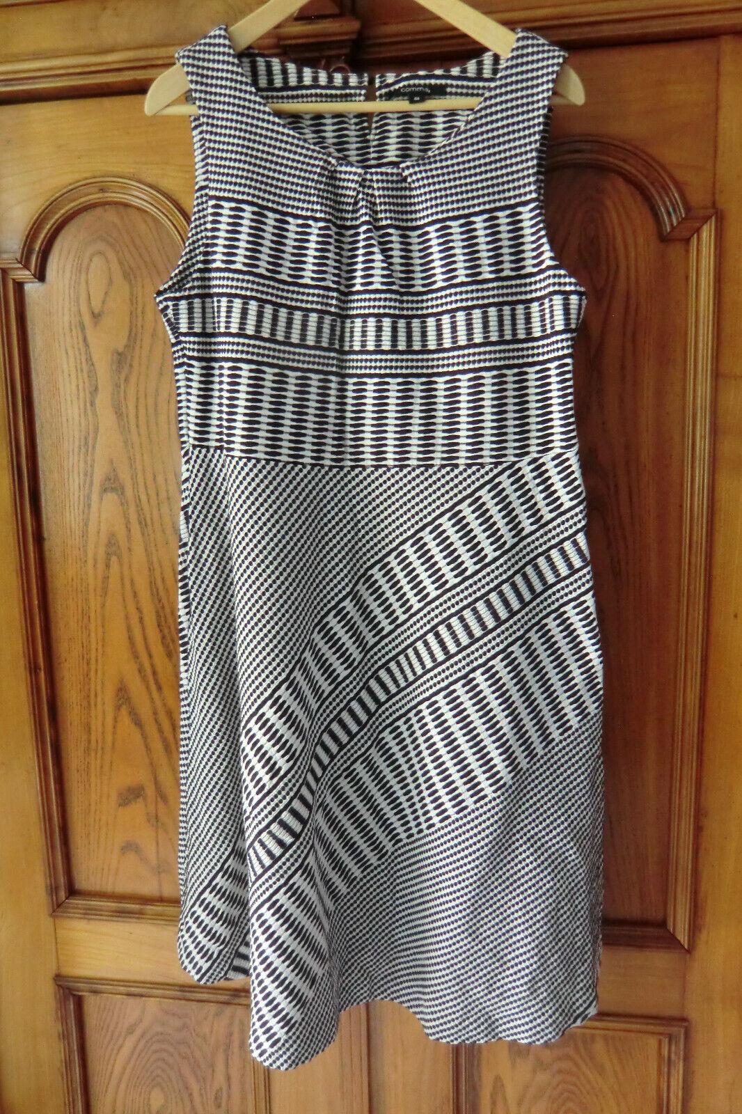 COMMA Kleid GR 44 dunkelblau weiß wie NEU Business oder Freizeit