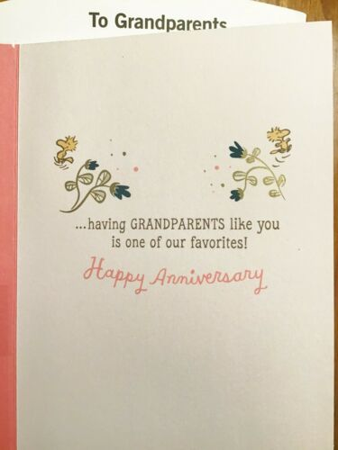Details about  /GRANDPARENTS ANNIVERSARY CARD for Happy Anniversary Grandparents Hallmark 49A