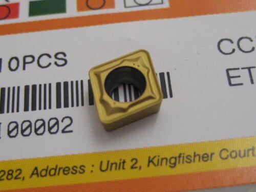 10 X Ccmt060208-bg Et801 Ccmt Vollhartmetall Drehplatten Europa Werkzeug #S