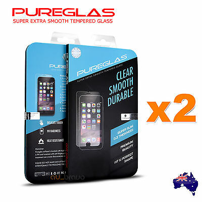 2x GENUINE PUREGLAS Tempered Glass Screen Protector For Apple iPhone 6s / 6 Plus