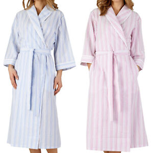 baby genuine shoes new styles Details about Slenderella Womens Seersucker Stripe Dressing Gown 3/4 Sleeve  Shawl Collar Robe