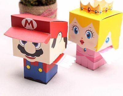 100PCS Super Mario Princess Wedding Favor Candy Boxes Bags Birthday Party Favour