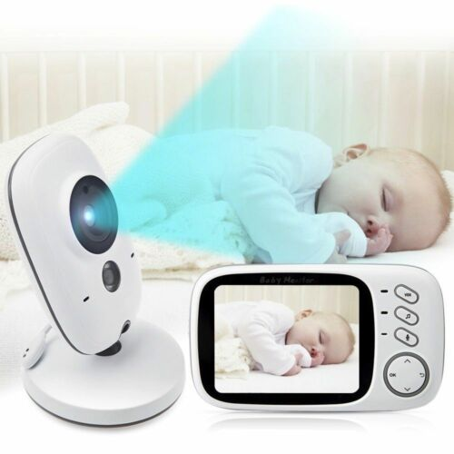 2-Way Talk 3.2 Digital Wireless Baby Monitor Night Vision Video Audio Camera KT