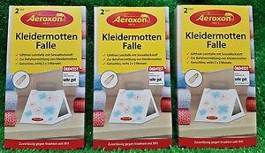 2-18-Stueck-3x-2-er-Pack-Aeroxon-KLEIDERMOTTENFALLE-Kleidermotten-Falle