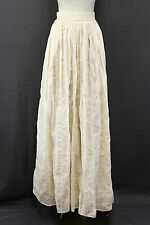 NWT$1575 Brunello Cucinelli Sparkling Sequin Golden Beige Long Full Skirt 42/6US