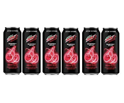 Amp Energy Cherry Blast 16oz Can Unopened Hard to Find Rare