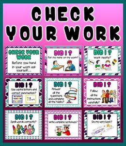 CD NEAT WORK CLASSROOM POSTERS TEACHING RESOURCES LITERACY ENGLISH ...