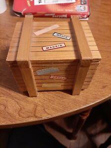 Vintage Reuge Music Box Travel Trunk