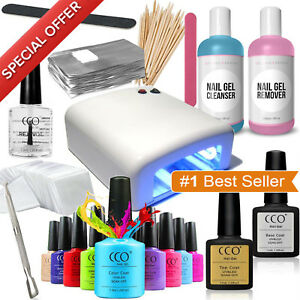 Image Is Loading Deluxe Nail Gel Polish Cco Starter Kit Set