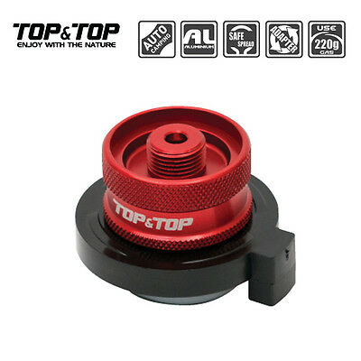 New (2015 Jun.) Top&Top Gas Adapter Convert Cylinder Type Butane To Screw Safety