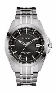 Bulova Precisionist Men's 96B252 UHF Quartz Black Dial 43mm Bracelet Watch
