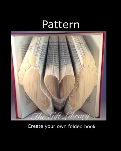 Baby footprints with heart  Book Folding Pattern~Folded Book art Patterns~