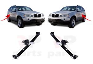 Pour BMW X5 E53 00-06 Neuf Lève-vitre Arrière Ascenceur avec Moteur Paire Set