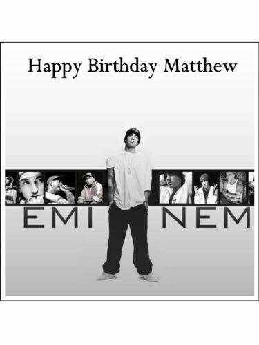 Eminem 03 pre-cut Edible Icing Cake Topper or Ribbon Easy to use