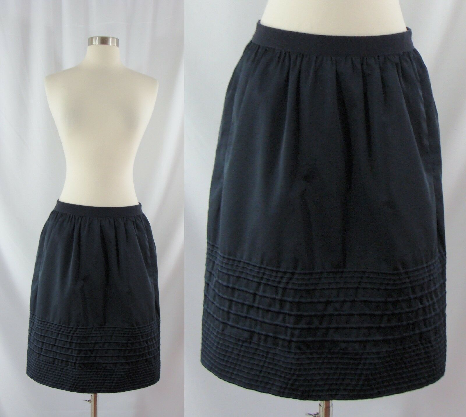 Lida Baday Size 6 bluee Silk Wool Blend A-line Skirt Knee Length Pencil
