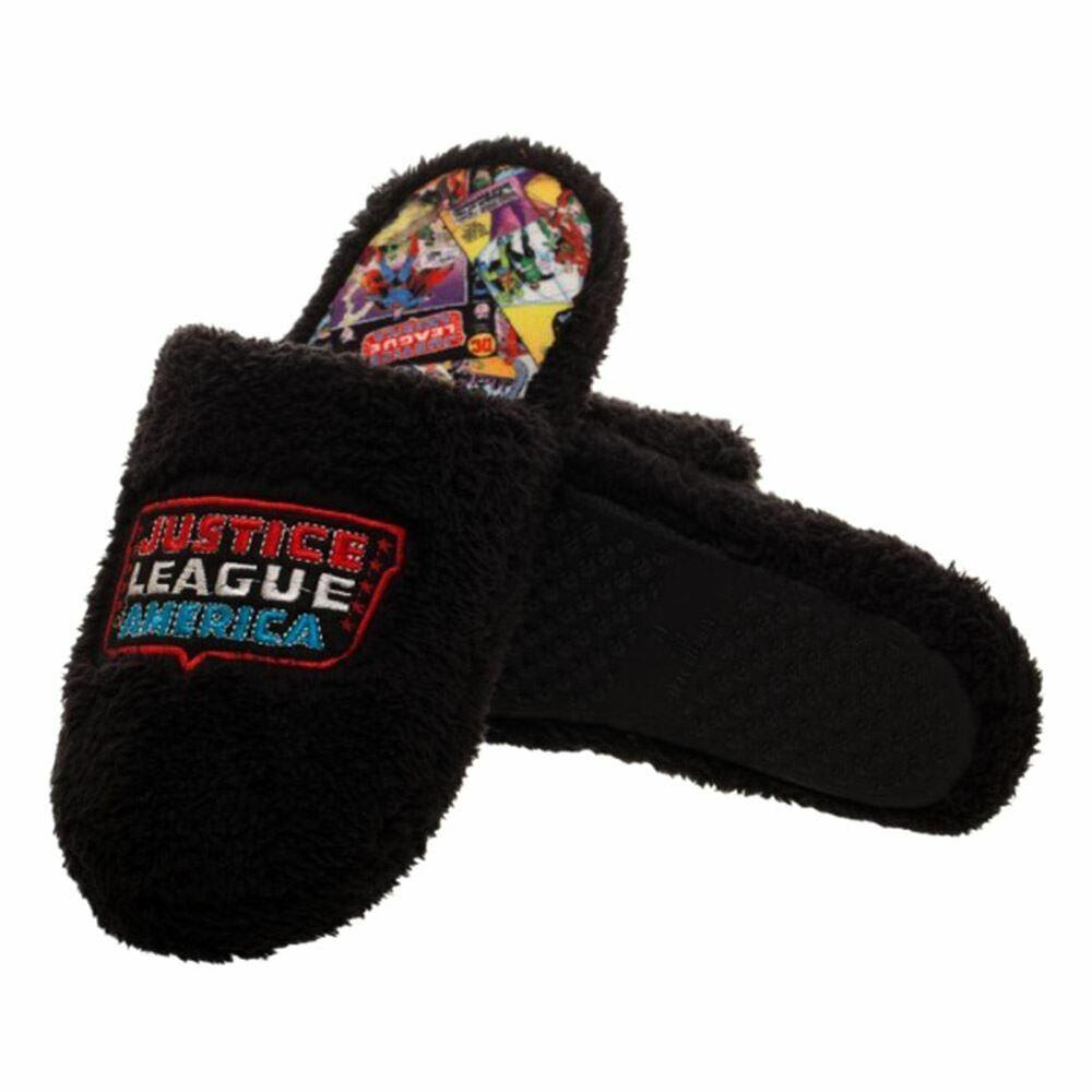 Dc Comics Justice League Adulte Mule Chaussons-diverses Tailles Comic Print