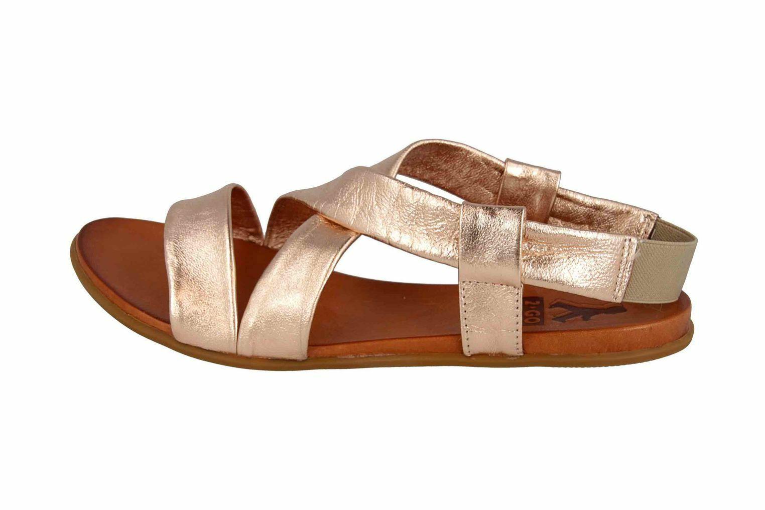 Mustang zapatos sandalias en talla extragrande bronce 8003-802-221 grandes zapatos señora