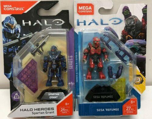 SERIES 9 Halo Heroes Spartan Grant And Sesa Refumee FMM70 /& GCM26