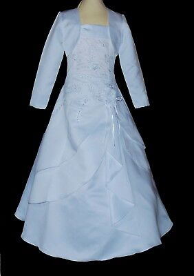 Kleid // Bolero-Jacke 128-140-152-XL Kommunionkleid Taufkleid Bolero neu LUX