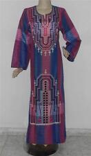 Women's Embroidered Long Kaftan Caftan Dress Abaya Galabeya Jalabiya Size M