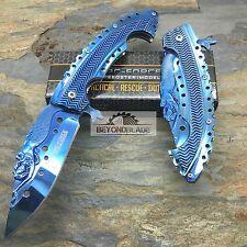 TAC-FORCE Blue Stamped Mermaid Titanium Blade Folding Pocket Knife TF-864BL