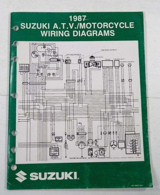 Suzuki 1987 Atv  Motorcycle Wiring Diagrams Manual New