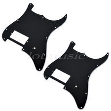 2* Guitar one Humbucker Pickguard for Fender Stratocaster Strat Parts 3Ply Black