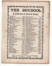 1850s THE BLOOM IS ON THE RYE Edward Fitzball BISHOP Oliver Ditson SHEET MUSIC