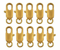 (10) 22k Gold Plated Lobster Claw Clasps 14mm Finding Bracelet Jewelry Clamps