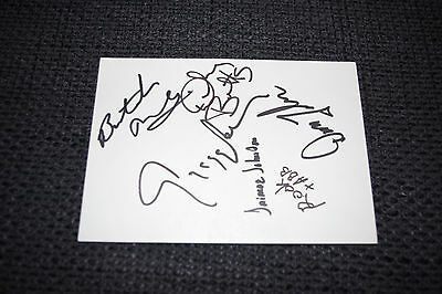 Music Enthusiastic The Allman Brothers Band Signed 4x6 Inch Autographed Index Card Ip In Berlin ´80 Curing Cough And Facilitating Expectoration And Relieving Hoarseness Rock & Pop
