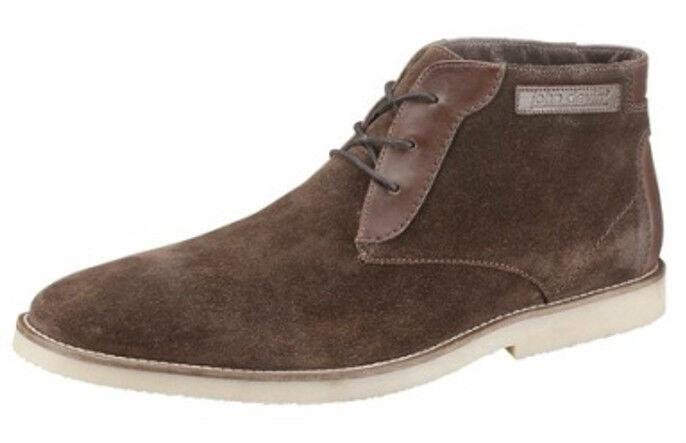 NEU HEINE Stiefeletten Boots brown 45 Lederstiefel Schnürstiefel Desertboots