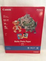 Canon Pixma Matte 45 Pound Photo Printer Paper Mp-101 8.5 X 11 Letter 50 Sheets