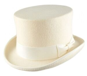 5a51e2e2e7e White TOP HAT 100% Wool Felt Supreme Quality Wedding Ascot Party ...