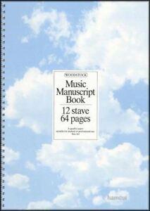 CompéTent Woodstock Musique Manuscrit Livre 12 Bâche 64 Pages A4-afficher Le Titre D'origine Avoir Un Style National Unique
