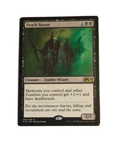 Death Baron NM Zombie Wizard Skeleton Tribal EDH Commander Pioneer Deathtouch