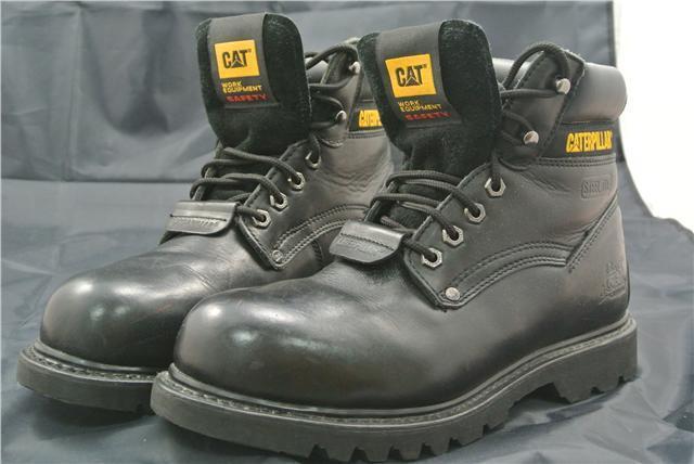 Botas al Tobillo CATERPILLAR Zapatos UK CATERPILLAR Tobillo CAT Trabajo Puntera De Acero Cuero Negro 774077