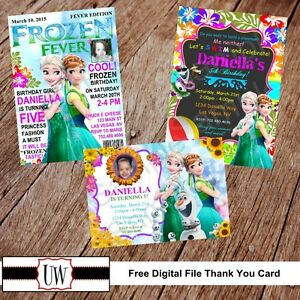 Details About Frozen Fever Invitation Invitations Printable DIY Birthday Party