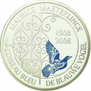 [#688084] Belgique, 10 Euro, 2008, FDC, Argent, KM:266