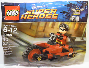1 LEGO DC SUPER HEROES 30166 ROBIN RED BIRD CYCLE POLYBAG RETIRED NEW